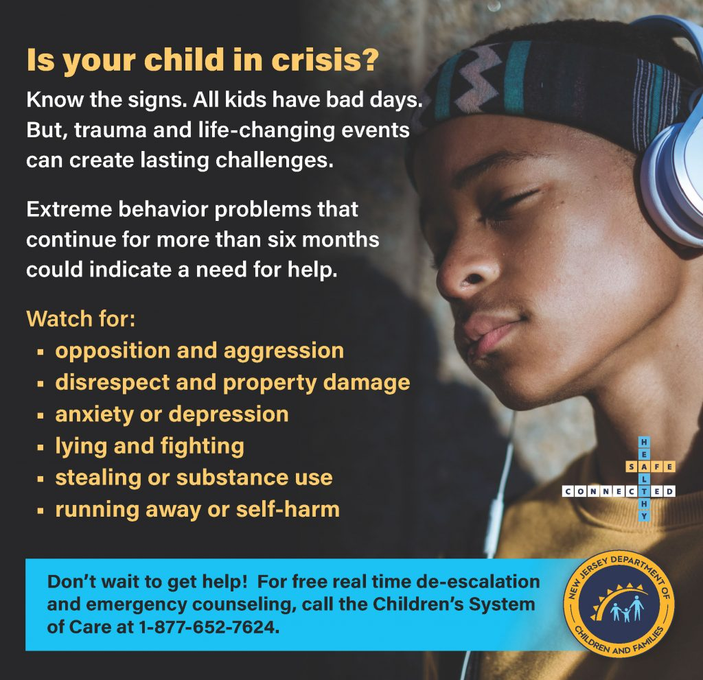 Is your child in crisis - signs resource
