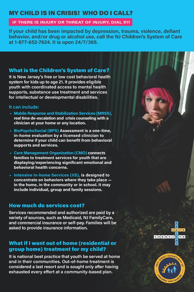 Child crisis quick facts poster