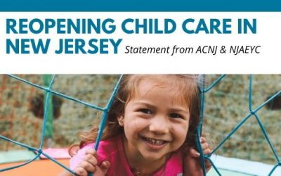 Framework for Reopening of Child Care in New Jersey